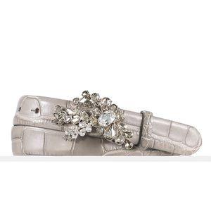 Ralph Lauren Collection Gray Alligator Belt